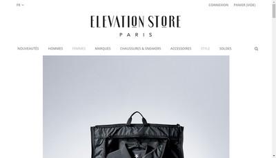 Site internet de The Elevation Store