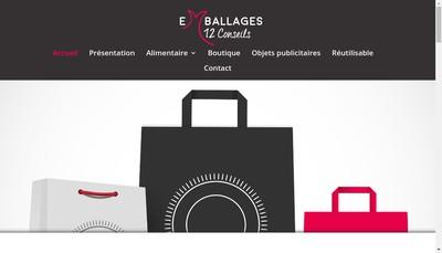 Site internet de Emballages 12 Conseils