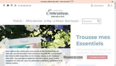 Site internet de Embryolisse Laboratoire
