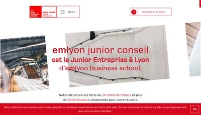 Site internet de EM Lyon Junior Conseil