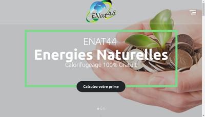 Site internet de Energies Naturelles 44