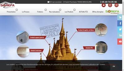 Site internet de Sorefa