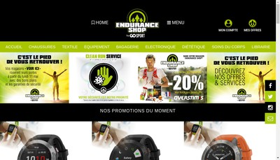 Site internet de Endurance Shop
