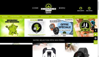 Site internet de Endurance Shop Millau