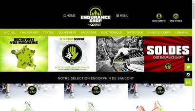 Site internet de Endurance Shop