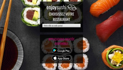 Site internet de Enjoy Sushi