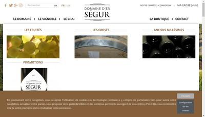 Site internet de Domaine d'en Segur
