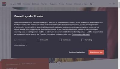 Site internet de Eos