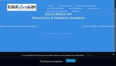 Site internet de Equilibres Rh