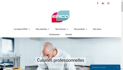 Site internet de Erco