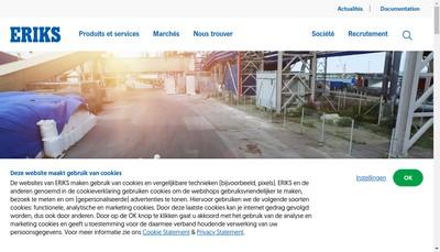 Site internet de Eriks France Holding