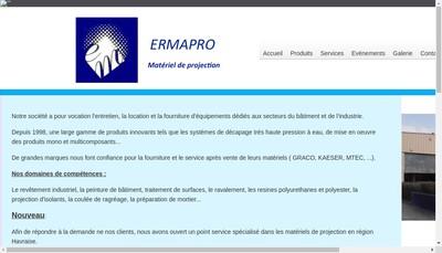 Site internet de Ermapro