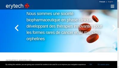Site internet de Erytech Pharma