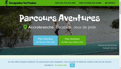 Site internet de Escapades Verticales