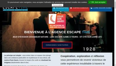 Site internet de Escape Time