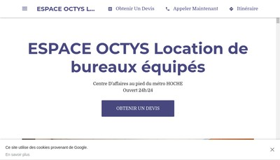 Site internet de Octys Formation