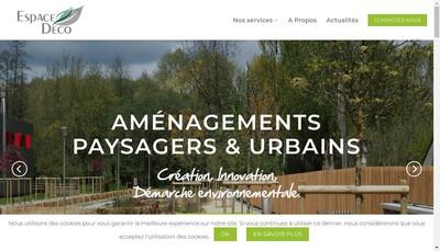 Site internet de Espace Deco
