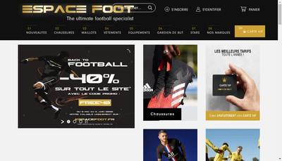 Site internet de Espace Foot