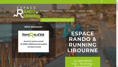 Site internet de Espace Rando & Running