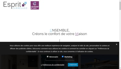 Site internet de Esprit Carrelage