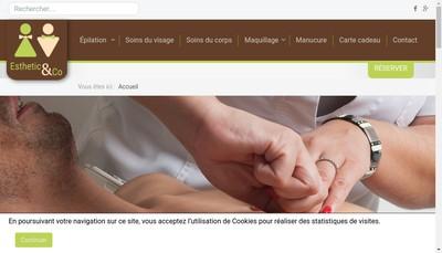 Site internet de Esthetic And Co Beziers