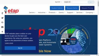 Site internet de Etap Automation France