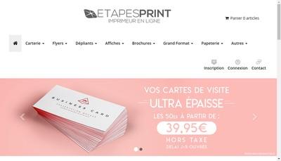 Site internet de Etapes Print - Yatoo Print