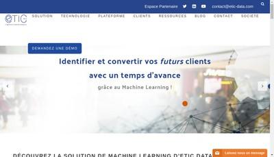 Site internet de Etic-Data