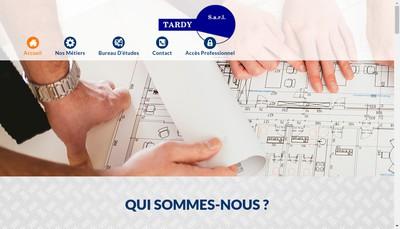 Site internet de Societe Tardy
