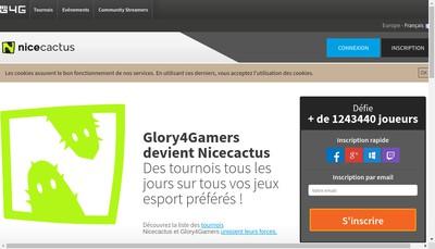 Site internet de Glory4Gamers