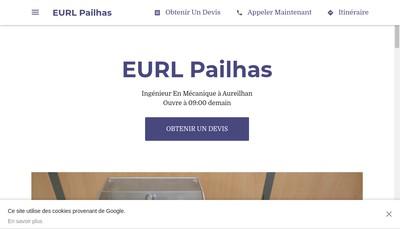 Site internet de EURL Pailhas