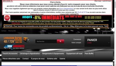 Site internet de Euro Camionnette