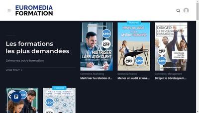 Site internet de Euro Media Formation