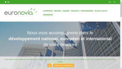 Site internet de Euronovia