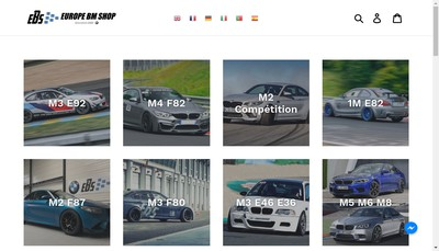 Site internet de Europe Bm Shop