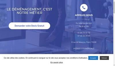 Site internet de Europe Demenagement Groupage