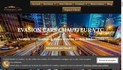 Site internet de Evasion Cars