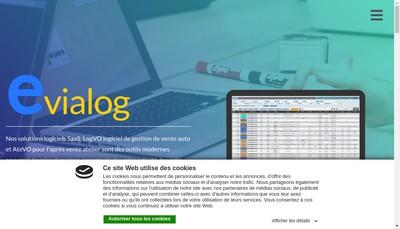 Site internet de Evialog
