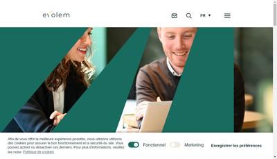 Site internet de Evolem Investissement