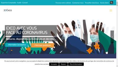 Site internet de Exco Paris Vfa Expertise
