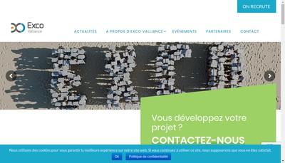 Site internet de Exco Valliance