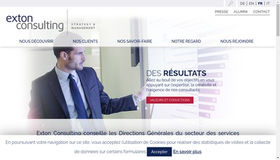 Site internet de Exton