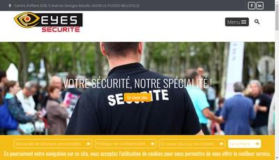 Site internet de Eyes Securite