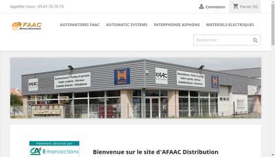 Site internet de @ FAAC Distribution