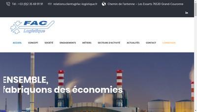 Site internet de Fac Logistique