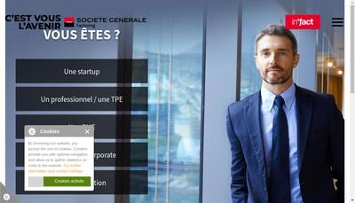 Site internet de Compagnie Generale d'Affacturage - Cga