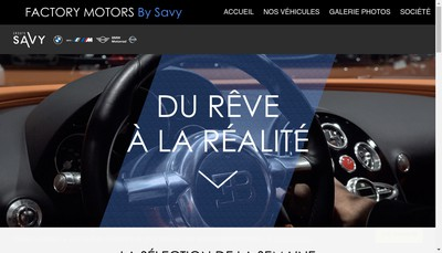 Site internet de Factory Motors By Savy