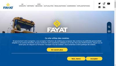 Site internet de Fayat Metal