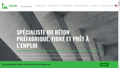 Site internet de Fehr Technologies Region Rhenane