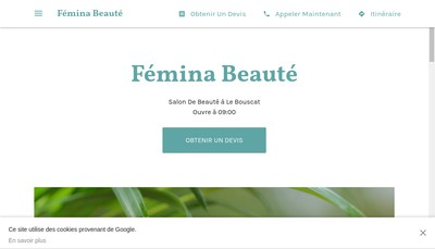 Site internet de Femina Beaute